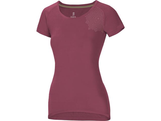 Ocun Raglan T-shirt Dames, mandala baroque rose
